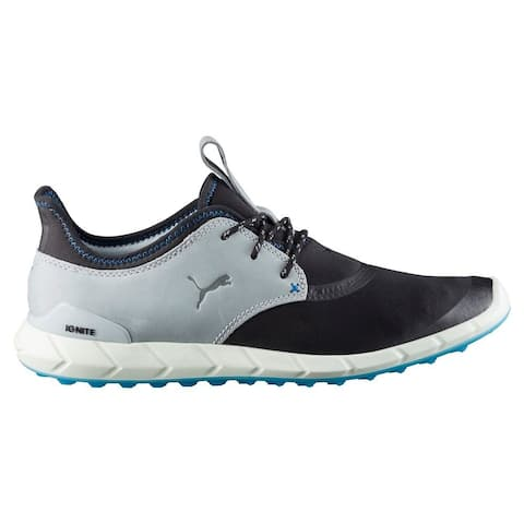 Puma Men's Ignite Spikeless Sport Black/Quarry/French Blue Golf Shoes 460023-03
