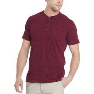 G.H. Bass & Co. Mens Casual Shirt Striped Short Sleeves - L