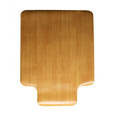 "Mind Reader Office Chair Mat For Hardwood Floor 36"" x 48"" Wood Design"