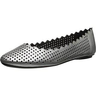 VANELi Womens Blowy Metallic Perforated Ballet Flats - 9 wide (c,d,w)