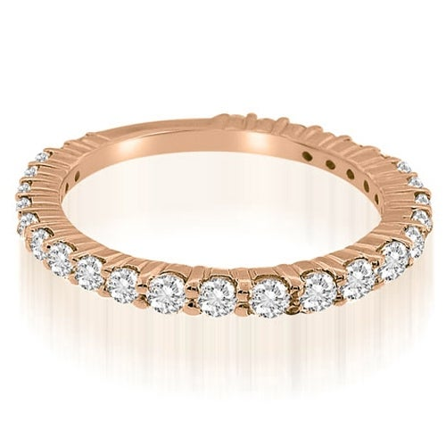 0.90 cttw. 14K Rose Gold Classic Round Cut Diamond Wedding Ring