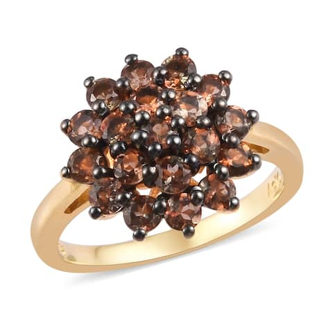 Shop LC 925 Sterling Silver Andalusite Flower Ring Ct 1.5