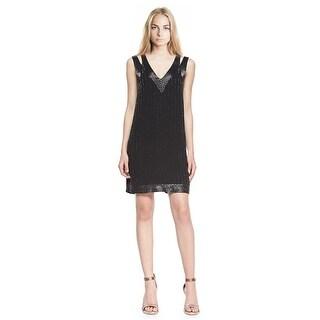 Joie Francoise Beaded Double-Strap Cocktail Dress - XS
