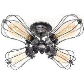 4 light antique industrial ceiling lamp edison ceiling light