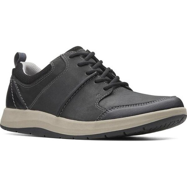 Shop Clarks Men's Shoda Stride Sneaker Black Leather Free