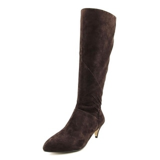 Nina Yippee Women Pointed Toe Suede Knee High Boot