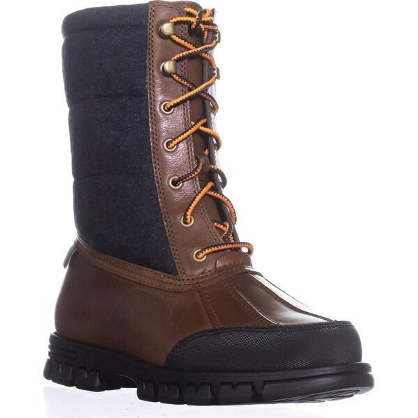 Lauren Ralph Lauren Quinlyn Snow Boots, Tan/Navy - 7.5 us / 38.5 eu