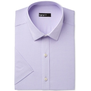 Link to bar III Mens Stretch Button Up Dress Shirt, Purple, 16-16.5 Similar Items in Shirts