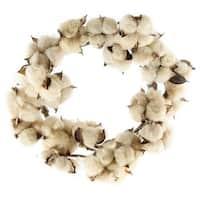 """Teastain Cotton Wreath, 12"""""""