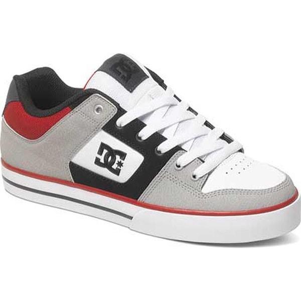 8bbca722c8 Shop DC Shoes Men s Pure Skate Shoe Grey Black Red - Free Shipping ...