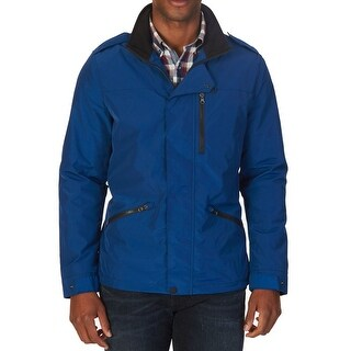 Nautica NEW Blue Mens Size 2XL Zipper Pocket Mock Neck Field Jacket