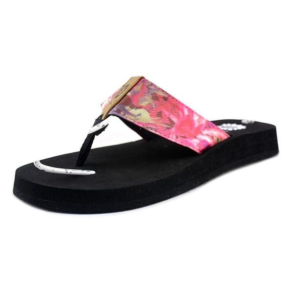 Yellow Box Gyda Women Open Toe Canvas Red Flip Flop Sandal