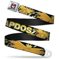 Pok Ball Full Color Black Zapdos Electric Flying Poses Bolts Black Yellows Seatbelt Belt