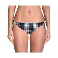 Shoshanna Womens Checkered Side Tie Swim Bottom Separates
