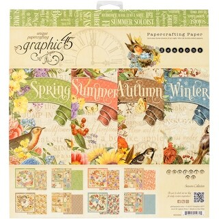 "Graphic 45 Double-Sided Paper Pad 12""X12"" 24/Pkg-Seasons, 8 Designs/3 Each"