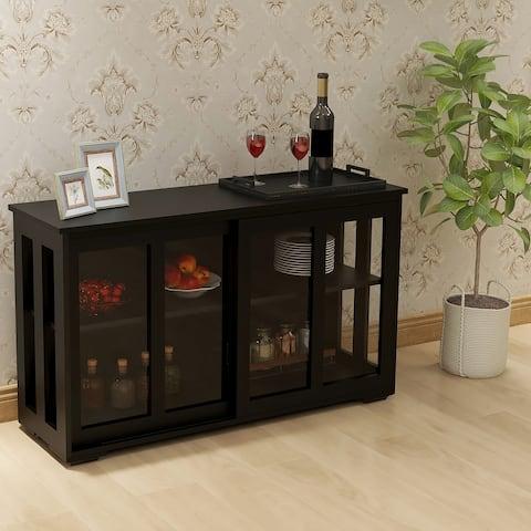 Nestfair Kitchen Storage Stand Cupboard With Glass Door
