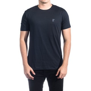 Versace Collection Men Medusa Logo Crew Neck T-Shirt Navy