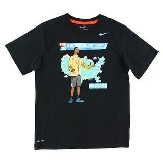 Nike Boys Kevin Durant Weatherman T Shirt Black - black/multi color - S