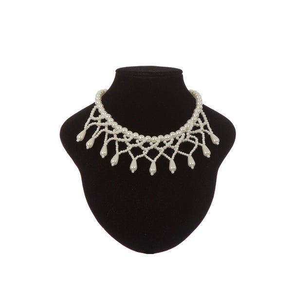 Cinderella Couture Elegant Tear Drop Pearl Necklace