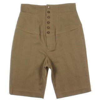 Catherine Malandrino Womens Textured High Waist Casual Shorts - 4