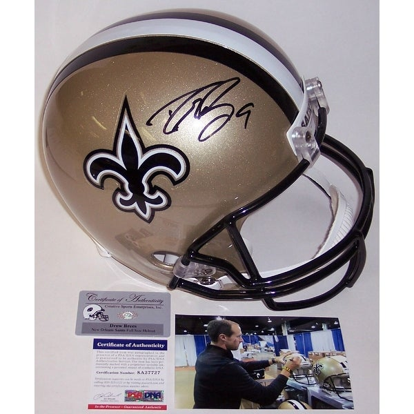 Drew Brees Autographed Hand New Orleans Saints Full Size Helmet PSADNA