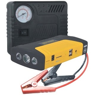 PYLE PBPK56 Multifunction Roadside Emergency Kit with Air Compressor