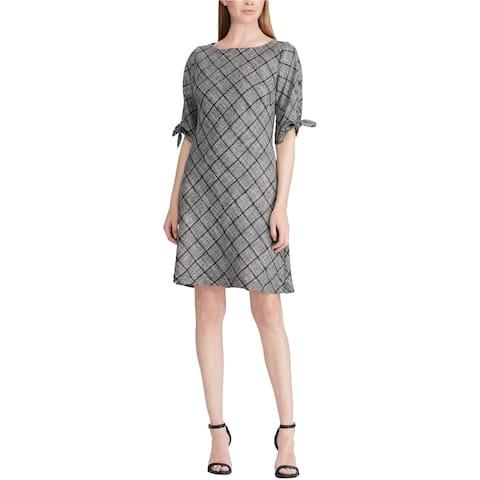 American Living Womens Tied Sleeve Sheath Dress, grey, 12