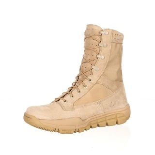 "Rocky Tactical Boots Mens 8"" Lightweight Leather Desert Tan RKC041"