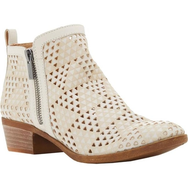 aa7418237829 Shop Lucky Brand Women's Basel Bootie Sandshell Perforated Leather ...