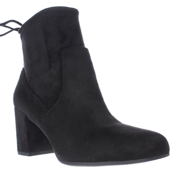 Franco Sarto Pisces Black Lace Ankle Booties, Black