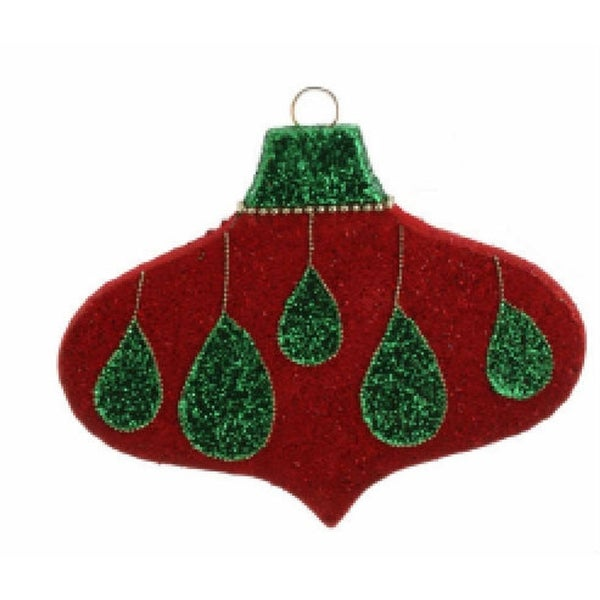 "12"" Shimmering Drops Giant Foam Ellipse Christmas Ornament"