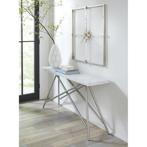 Coral Console Table in Marble