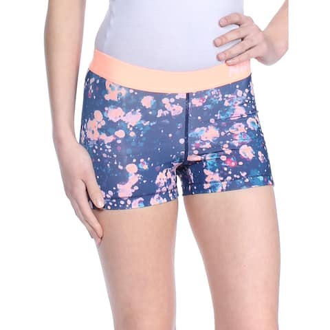 NIKE Womens Blue Printed Running Active Wear Short Size: XS