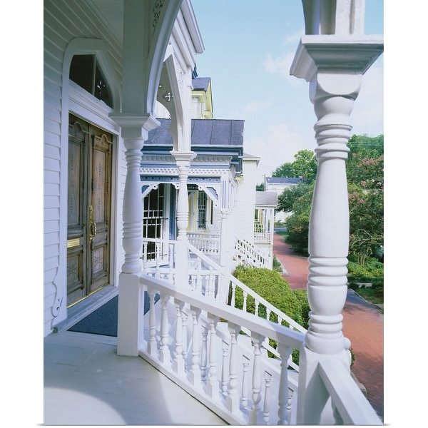 """Porch of a house, Savannah, Georgia"" Poster Print"
