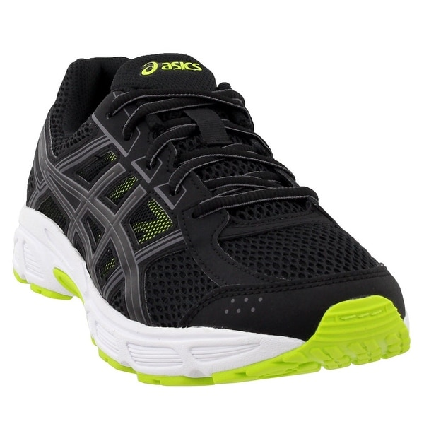 Boy's Asics, Gel Contend 4 GS Running Sneakers BLACK RED 4 M