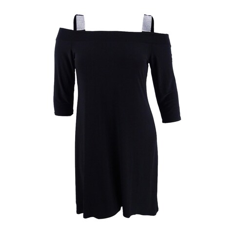 Msk Women's Cold-Shoulder Shift Dress