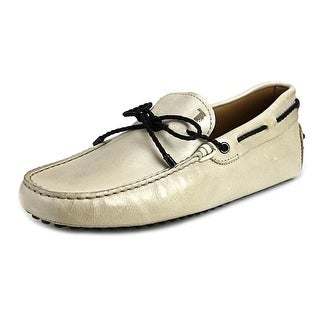 Tod's Laccetto My Colors Gommini 122 Men Suede Ivory Moccasins