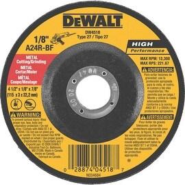 DeWalt 4-1/2X1/8X7/8 Grnd Wheel