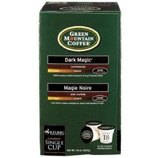 Keurig Green Mountain Coffee 108880 Coffee K-Cup, 18 Count, Dark Magic