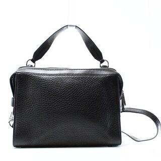 Michael Kors NEW Black Pebble Leather Ingrid Zip Shoulder Bag Purse