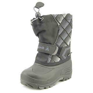 Kamik Snowbank2 Youth Round Toe Synthetic Black Snow Boot