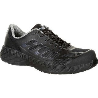Georgia Boot Men's GB00220 ReFLX Composite Toe Work Athletic Shoe Black Leather/Synthetic