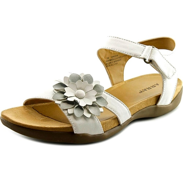 Array Sangria Women W Open-Toe Leather Slingback Sandal