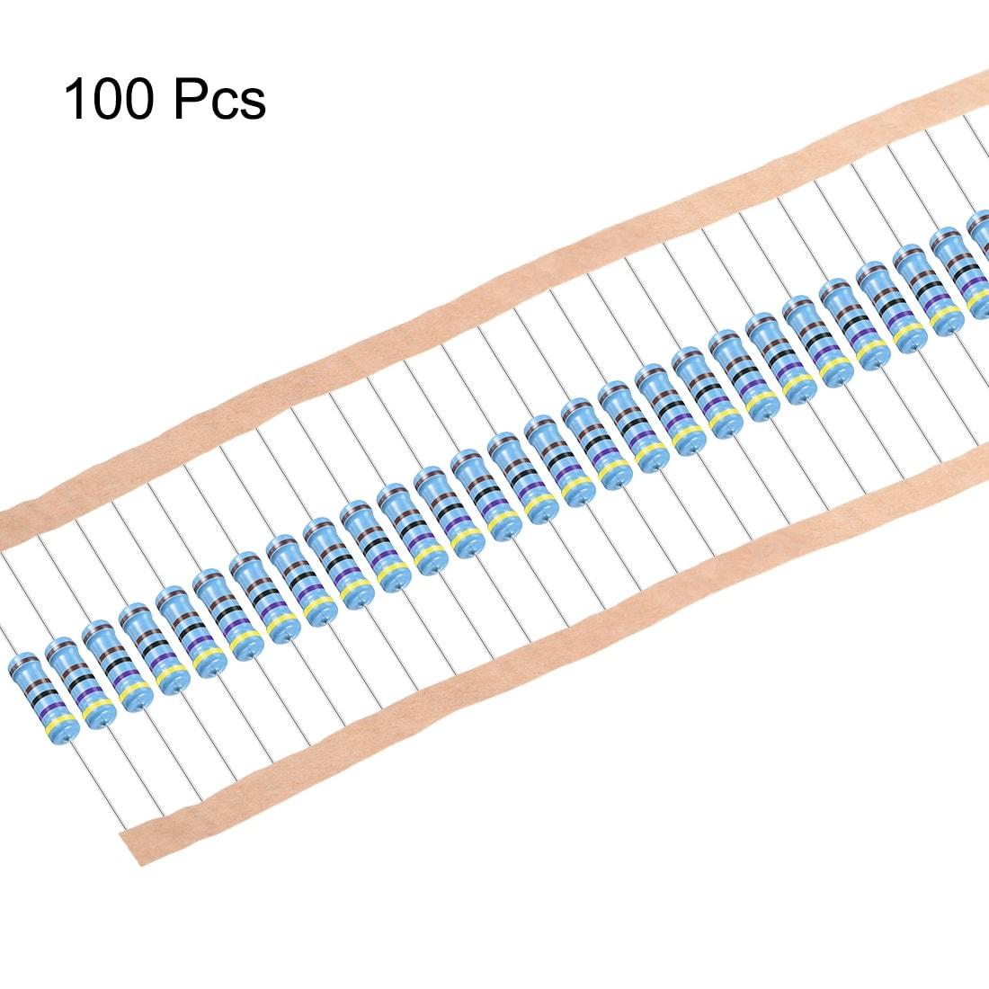 100 resistenza 12,4 K mf0207 metallo Film Resistors 12,4k 0,6w tk50 1/% 032984