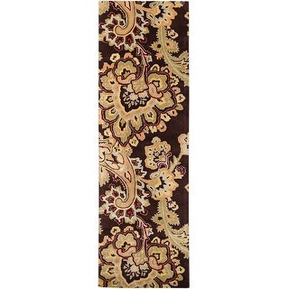 Hand-tufted Wool Transitional Paisley Runner Area Rug