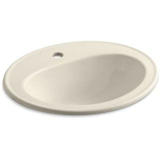 "Kohler K-2196-1 Pennington 16"" Drop In Bathroom Sink with 1 Hole Drilled and Overflow"