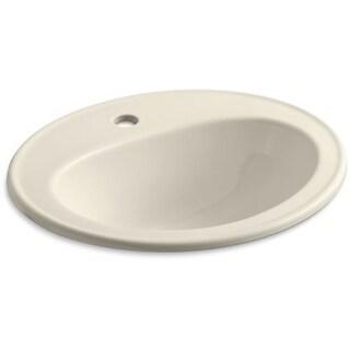 "Kohler K-2196-1 Pennington 16"" Drop In Bathroom Sink with 1 Hole Drilled and Overflow"