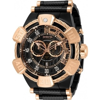 Link to Invicta Men's 32832 'Jason Taylor' Black and Rose-Tone Polyurethane and Stainless Steel Watch Similar Items in Men's Watches