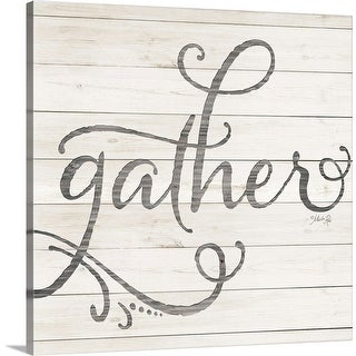 """""""Simple Words Gather"""" Canvas Wall Art"""