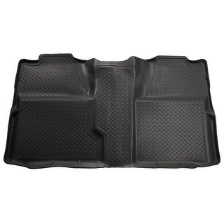 Husky Classic 2007 GMC Sierra 1500 Denali CrewCab 2nd Row Black Rear Floor Mats/Liners